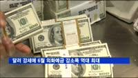 달러 강세에 6월 외화예금 감소폭 역대 최대