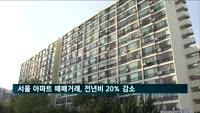 서울 아파트 매매거래, 전년비 20% 감소