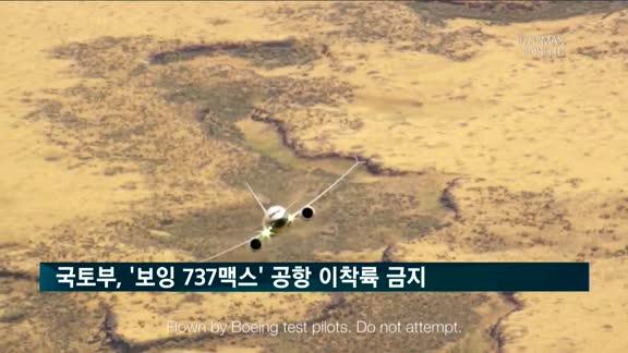 국토부, '보잉 737 맥스' 국내 공항 이착륙 금지