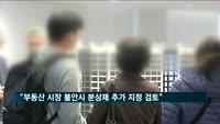 """정부 """"부동산 시장 불안시 분상제 추가 지정 검토"""""""