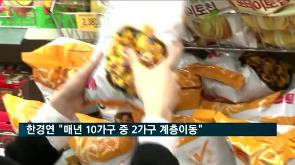 """한국경제연구소 """"매년 10가구 중 2가구 '계층 이동'"""""""
