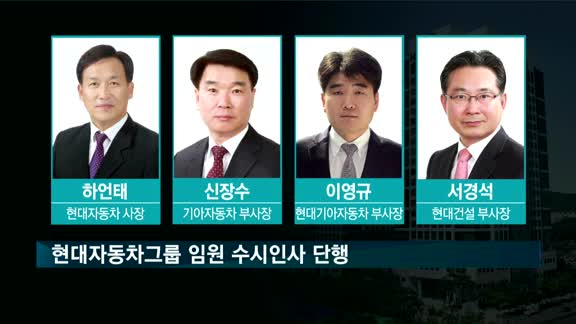 현대차그룹 임원인사 단행…하언태 울산공장장 사장 승진