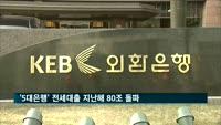 '5대은행' 전세대출 지난해 80조 돌파