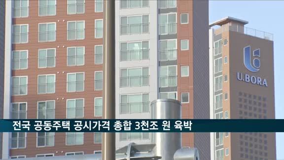 전국 공동주택 공시가격 총합 3천조 원 육박