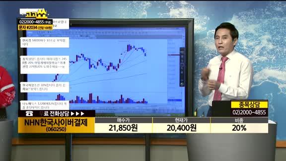 [종목상담]NHN한국사이버결제(060250)