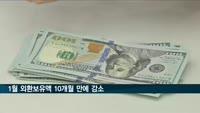 1월 외환보유액 4천427억달러…10개월 만에 감소