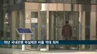 작년 국내은행 부실채권 비율 역대 최저