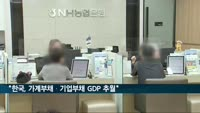 """한경연 """"한국, 가계부채도 기업부채도 GDP 추월"""""""