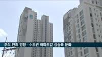 추석 연휴 영향…수도권 아파트값 상승폭 둔화